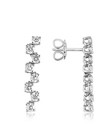 Boucles d'oreilles en or 750 avec diamants 1.06 Ct - Forzieri