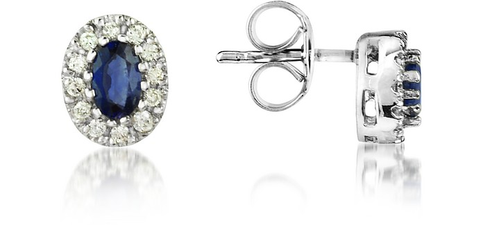 Sapphires and Diamond 18K Gold Earrings - Incanto Royale