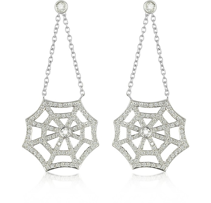 0.76 ctw Diamond 18K Gold Earrings - Incanto Royale