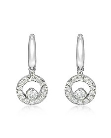 0.7 ctw Diamond 18K Gold Earrings - Incanto Royale