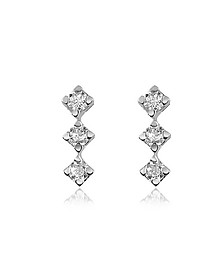 0.24 ct Diamond Drop 18K Gold Earrings - Forzieri