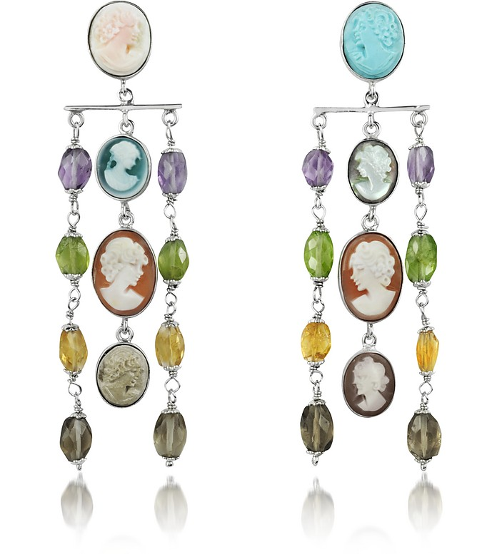 Cameo Cascade Earrings - Mia & Beverly