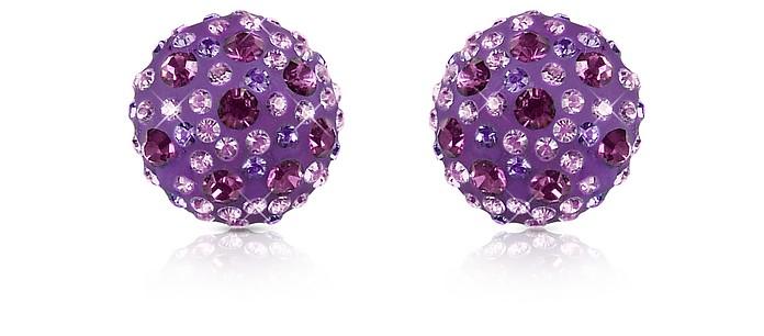 Fantasmania - Crystal Button Earrings - Gisèle St.Moritz