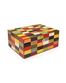 Multicolor Arlecchino Inlaid Wood Game Box - Forzieri