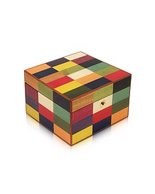 Multicolor Arlecchino Inlaid Wood Jewelry Box - Forzieri