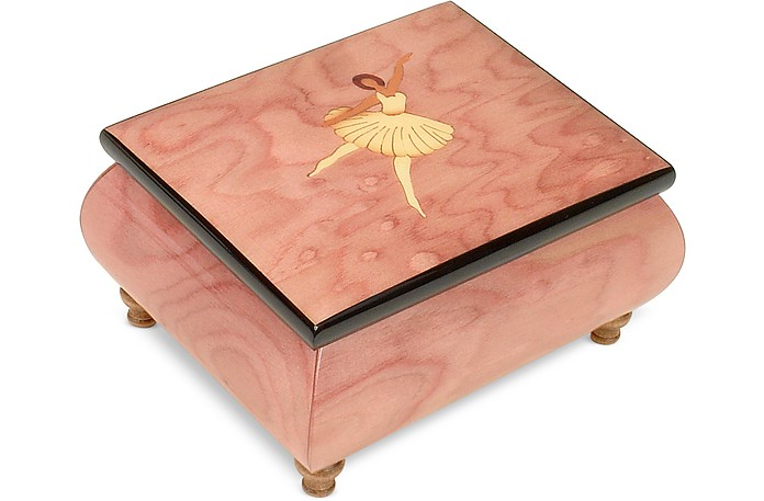 Forzieri o sole mio ballerina inlaid wood musical