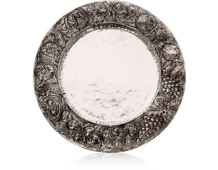 Silver Plated Brass Decorative Plate - Forzieri / フォルツィエリ