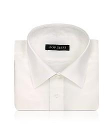 Ivory Pure Silk Dress  Shirt - Forzieri
