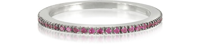 Natural Pink Saphir Eternity Band Ring - Forzieri