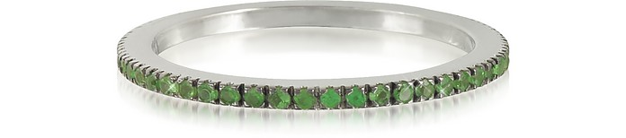 Natural Tsavorites Eternity Band Ring - Forzieri