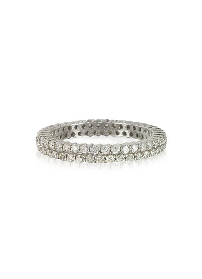 Diamonds Eternity Double Band Ring - Forzieri
