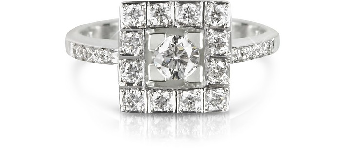 Bague en Or Blanc et Diamants - Forzieri