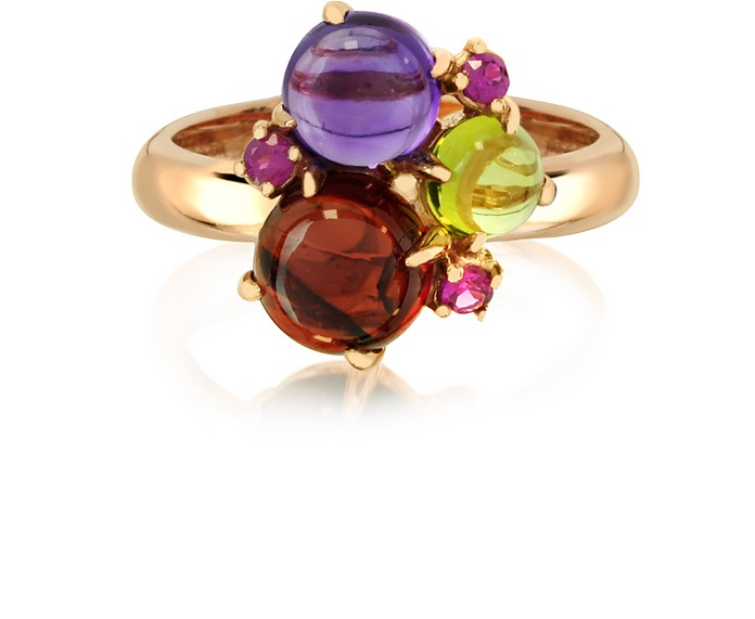Gemstones 18K Rose Gold Ring - Mia & Beverly