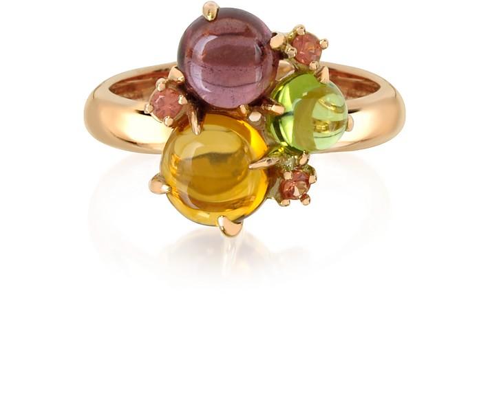 Ring aus 18k Rosegold mit Edelsteinen - Mia & Beverly