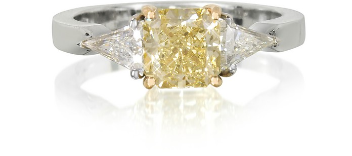 Goldener Ring mit Diamanten - Forzieri