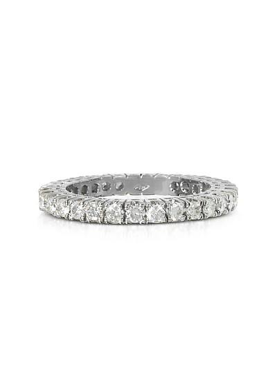 Eternity Ring aus 18k Weissgold mit Diamant  - Forzieri