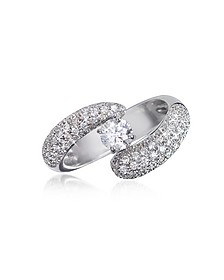 Diamond 18K Gold Ring - Forzieri