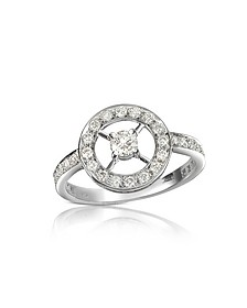 0.52 ctw Diamond 18K Gold Ring - Forzieri