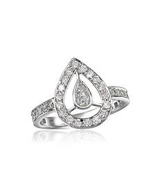 0.65 ct Diamond Drop 18k Gold Ring - Forzieri