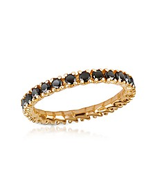 Black Diamond 18K Yellow Gold Eternity Band - Forzieri