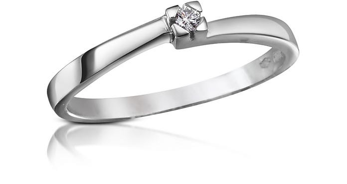 0.03 ctw Diamond Solitaire Ring  - Forzieri