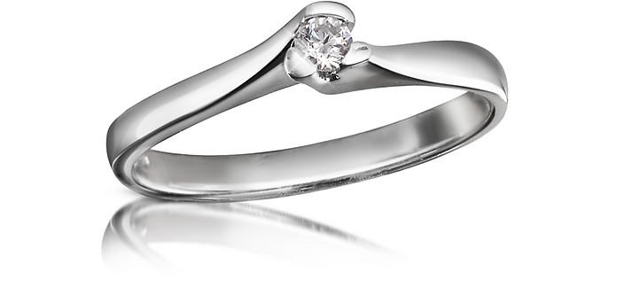 Anillo en Oro 18k con Diamante Solitario - Forzieri