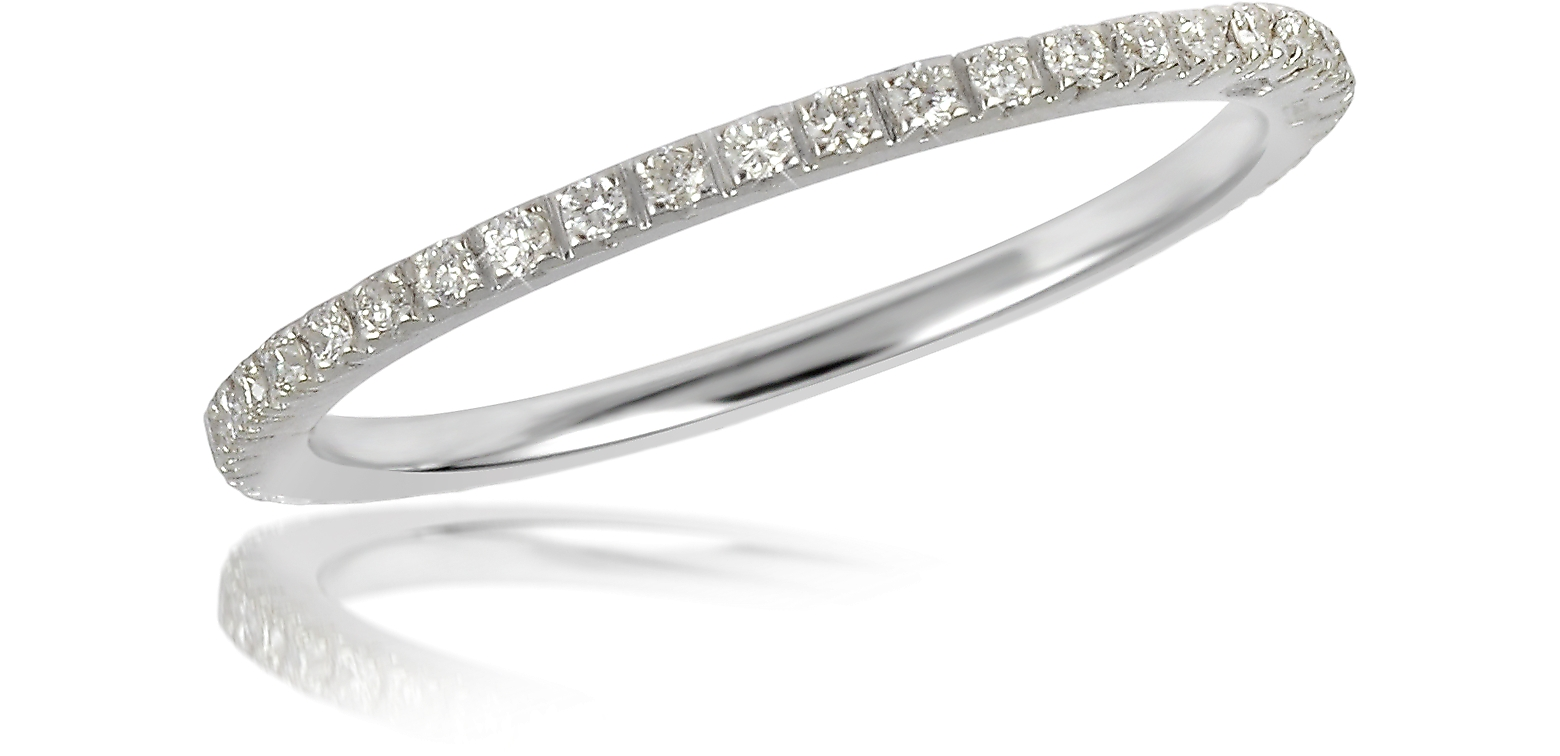 0.27 ctw Diamond 18K White Gold Eternity Band
