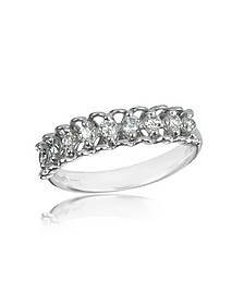 Bague en or blanc avec diamants 0.37 Ct - Forzieri