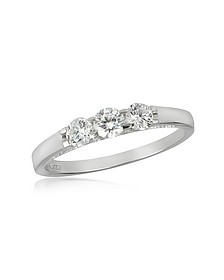 Bague en or blanc 750 avec diamants 0.49 Ct - Forzieri