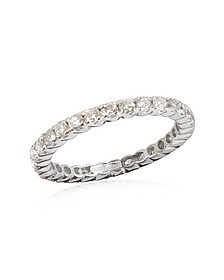 Bague Eternity or blanc 750 avec diamants 1.20 Ct  - Forzieri