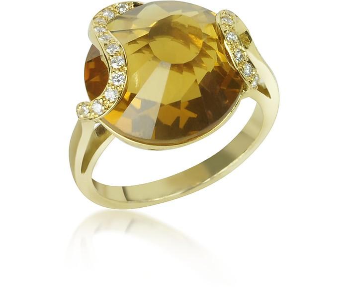 Citrine and Diamond 18K Gold Ring - Incanto Royale