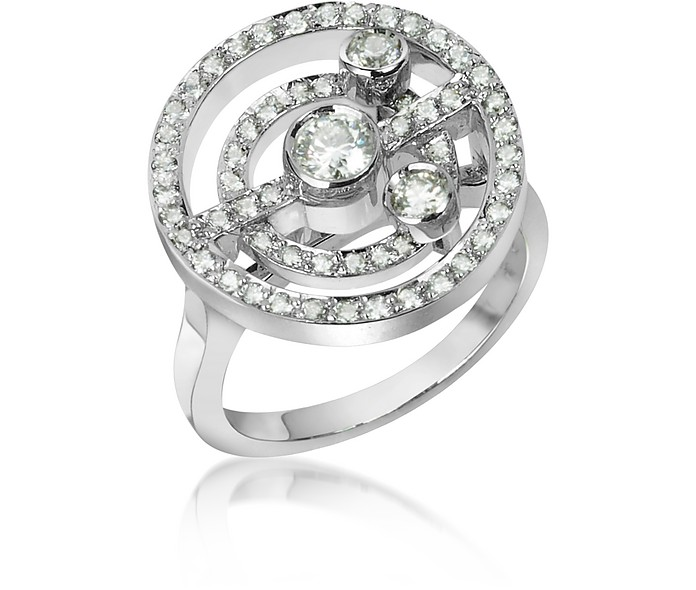 0.62 ctw Diamond 18K Gold Ring - Incanto Royale
