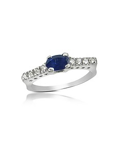 Princess - Bague en or 750 avec diamant et saphir - Incanto Royale