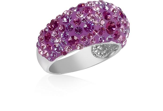 Fantasmania - Purple Crystal Wide Band Ring - Gisèle St.Moritz