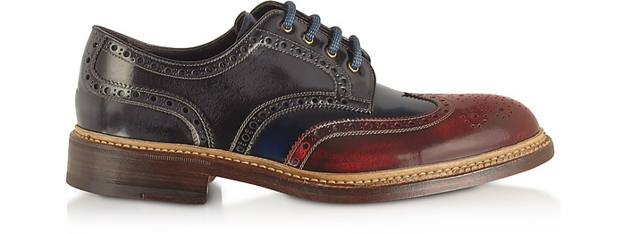 Multicolor Wingtip Derby Shoes - Forzieri