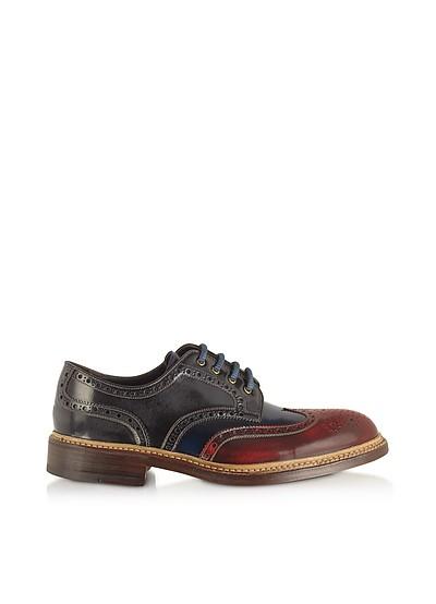 Multicolor Wingtip Derby Shoes - Forzieri