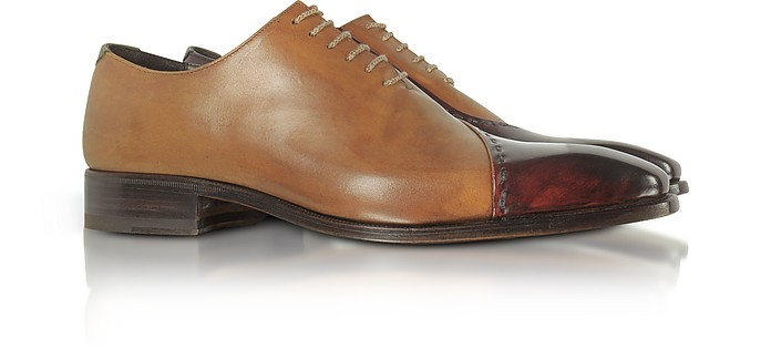 discover latest trends complete in specifications beauty Brown Italian Handcrafted Leather Cap Toe Dress Shoes