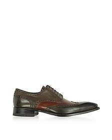 Chaussures oxford fait-main en cuir italien deux-tons - Forzieri