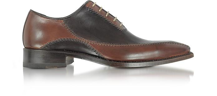 Zapatos Piel Marrón Oscuro Hechos a Mano - Forzieri