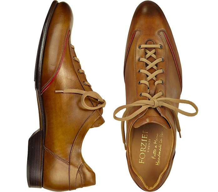 Men's Brown Handmade Italian Leather Lace up Shoes