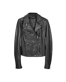 Black Leather Motocycle Jacket