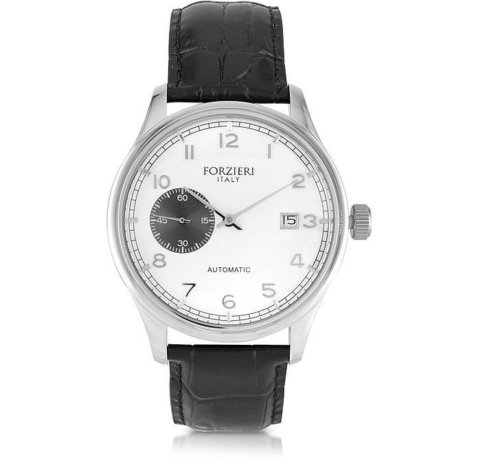Byron Stainless Steel Men's Watch w/Croco Leather Strap - Forzieri / フォルツィエリ