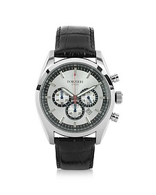 Spider - Men's Stainless Steel Silver Dial Chronograph Watch - Forzieri