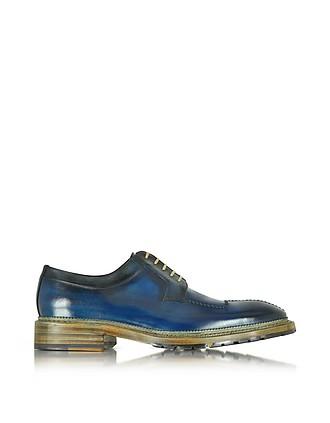 Chaussures Italien En Artisanal Bleu… Cuir Derbies v8OwmNn0