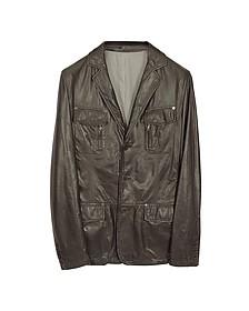 Leather Blazer Jacket - Forzieri