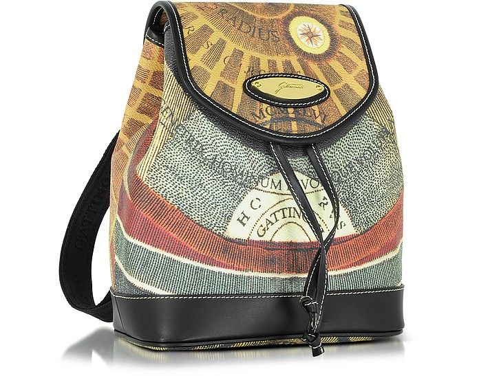 buy popular 13314 be750 Planetarium Coated Canvas and Leather Small Backpack