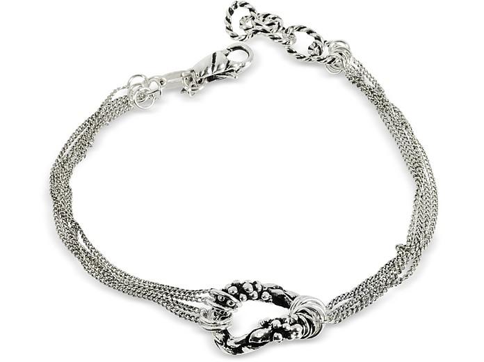 Multi Chain Bracelet w/Ring - Giacomo Burroni