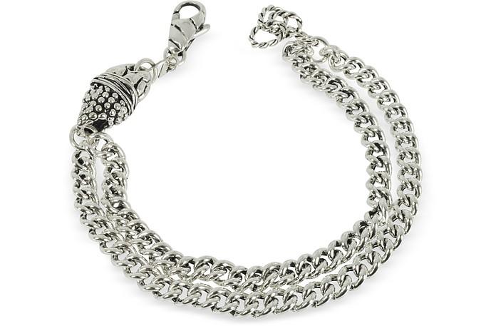 Etruscan Double Chain Bracelet - Giacomo Burroni