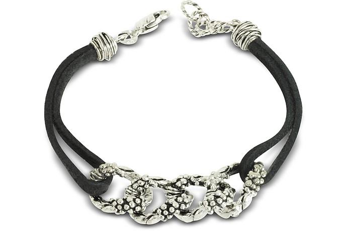 Leather Bracelet w/Links - Giacomo Burroni