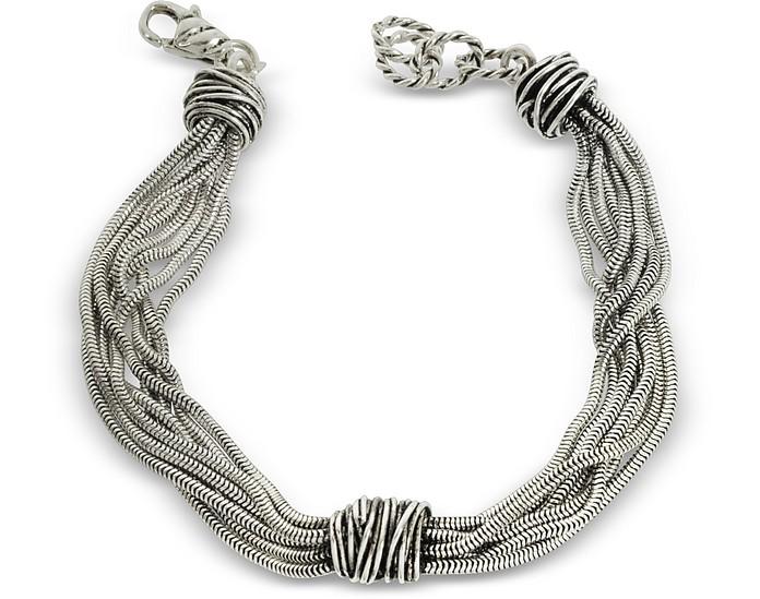 Multi Chain Bracelet w/Etruscan Knot - Giacomo Burroni